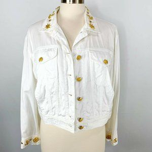 Vintage Mondi Cropped Jacket Nautical Buttons